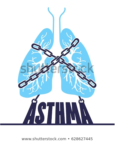 banner bronchial asthma chain-bound Stock photo © Olena