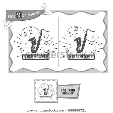 Vinden verschillen spel zwarte saxofoon kinderen Stockfoto © Olena