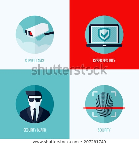Silhouette Laptop Security Flat Photo stock © ussr