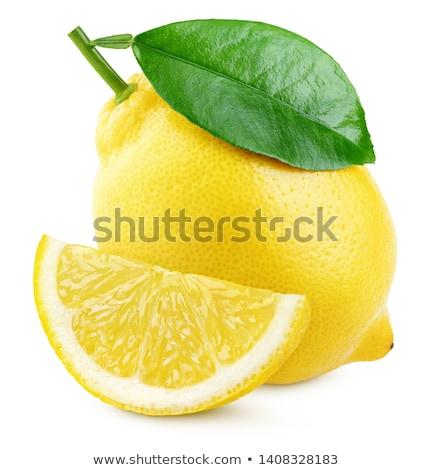citroen · geheel · half · geïsoleerd · witte · voedsel - stockfoto © digitalr