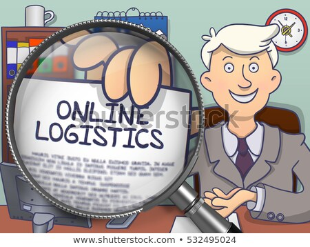 Logistics through Magnifier. Doodle Concept. Stock photo © tashatuvango