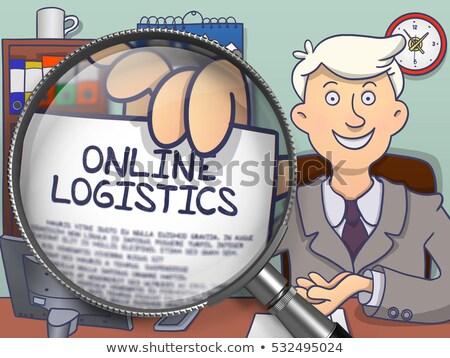 logistics through magnifier doodle concept stock photo © tashatuvango