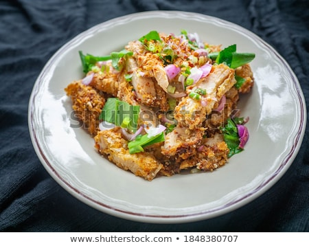 fried chicken and salad Stock photo © M-studio