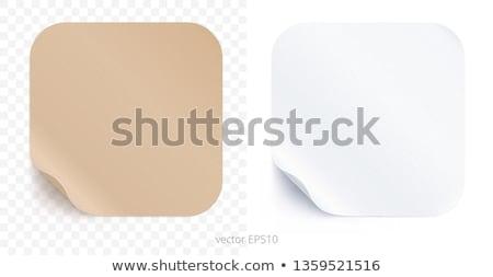 икона квадратный наклейку белый знак десерта Сток-фото © Ecelop