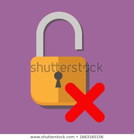 Rojo web bloqueo seguridad tecnología negocios Foto stock © alexaldo