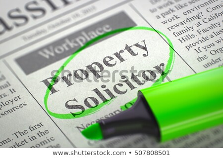We are Hiring Commercial Property Solicitor. 3D. Stock photo © tashatuvango