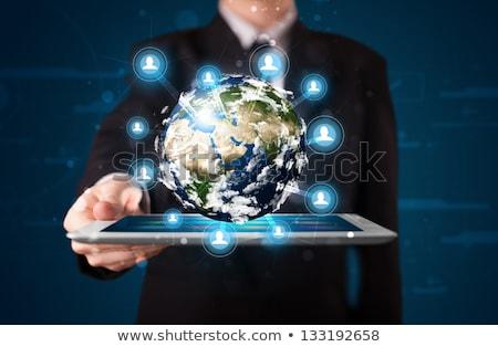 ビジネスマン 未来的な デジタル タブレット 触れる ストックフォト © wavebreak_media