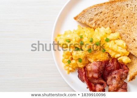朝食 · ぱりぱり · ベーコン · フライド · 卵 · パン - ストックフォト © virgin