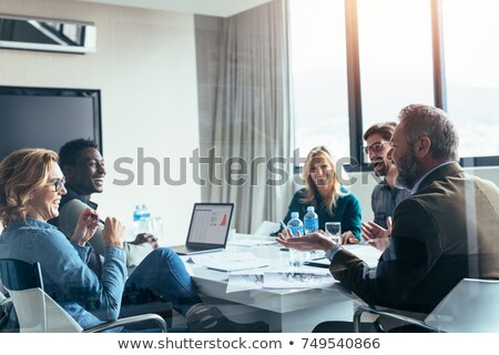 ül együtt konferenciaterem portré iroda számítógép Stock fotó © wavebreak_media