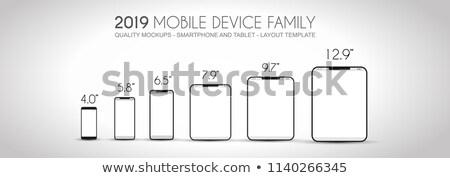 полный следующий поколение семьи Мобильные телефоны Сток-фото © DavidArts