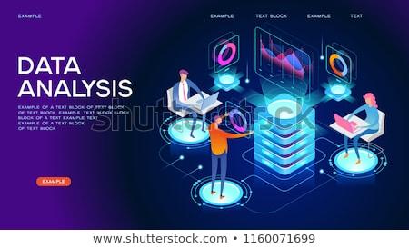 Isométrica grande dados análise coleção Foto stock © RAStudio