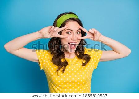 Blue clothes headband girl 2 stock photo © toyotoyo