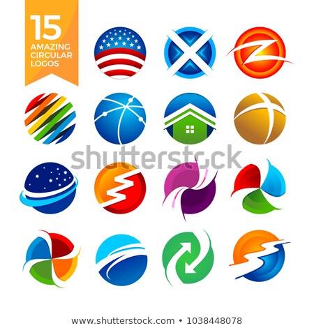 15 · incroyable · circulaire · forme · logos · vecteur - photo stock © smith1979