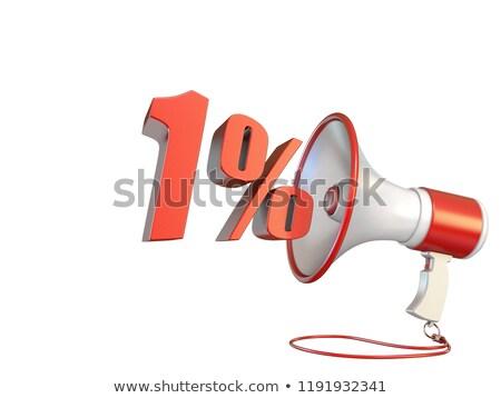 1 percent sign and megaphone 3D Stock photo © djmilic