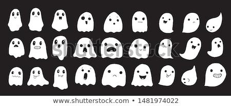 Desenho animado fantasma sorridente ilustração feliz Foto stock © cthoman