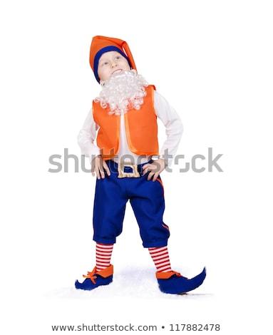 Little boy dressed like a gnome Stock photo © acidgrey
