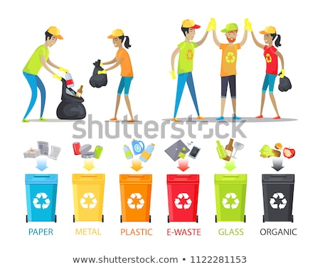 Rubbish Collecting and Allocation Vector Banner Stock photo © robuart