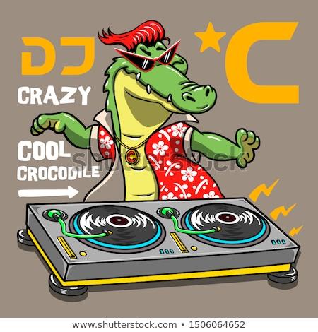 Rajz krokodil szörny férfi illusztráció Stock fotó © cthoman
