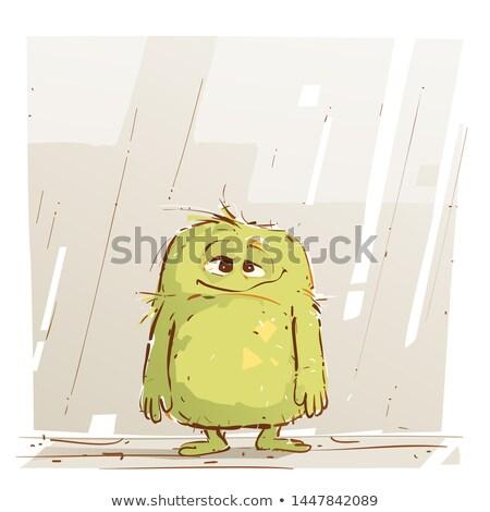 Cansado feio diabo desenho animado ilustração olhando Foto stock © cthoman