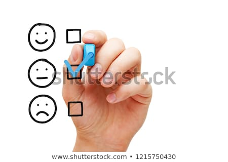 Blank Average Customer Survey Evaluation Form Stock photo © ivelin