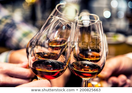 Grupo amigos brinde conhaque brandy negócio Foto stock © ruslanshramko