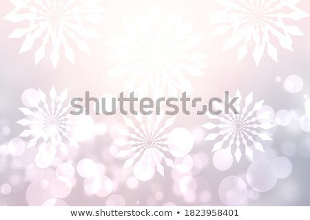 snowfall and red wood background Stock photo © romvo