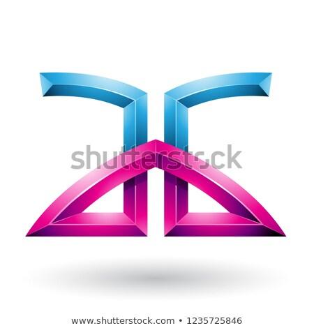 Azul magenta cartas vetor isolado branco Foto stock © cidepix