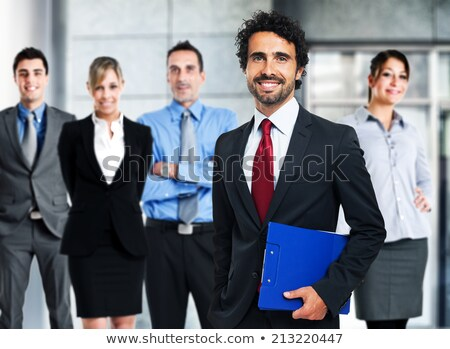 Happy manager with his team Stock photo © Minervastock