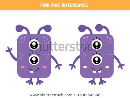 Local diferença violeta jogo crianças adultos Foto stock © Olena