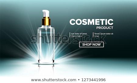 Kozmetik cam paketleme vektör spa makyaj Stok fotoğraf © pikepicture