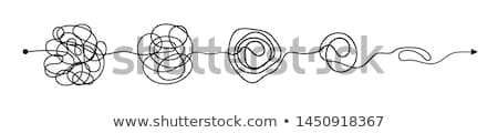 działalności · wektora · dwie · osoby · rozwiązać - zdjęcia stock © rastudio