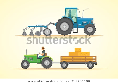 People Working on Farm with Equipment Vector Icon Stock photo © robuart