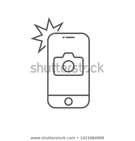 Kamera fotózás alkalmazás vektor művészet Stock fotó © vector1st