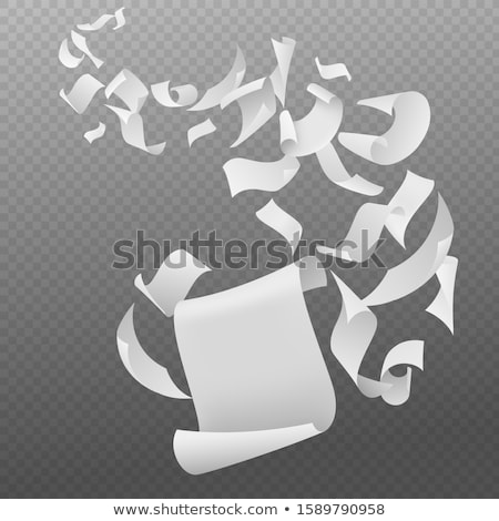 Flying paper sheets with curved corners in the sky. Vector Stock photo © Andrei_