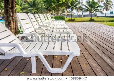 witte · plastic · houten · dek · tuin · outdoor - stockfoto © ruslanshramko