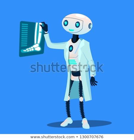 робота врач Xray фотография сломанной ногой вектора Сток-фото © pikepicture