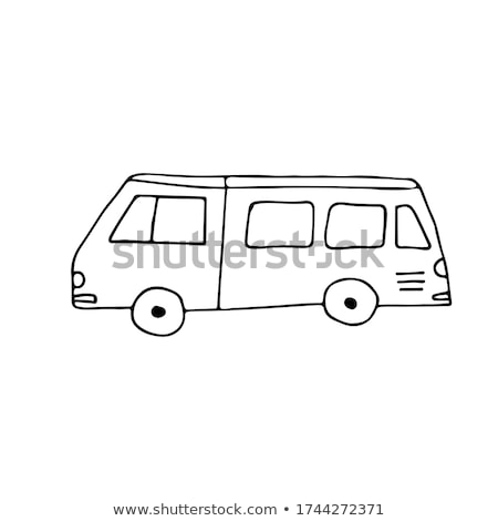 マイクロバス 手描き いたずら書き アイコン バス ストックフォト © RAStudio