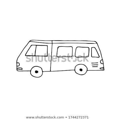 Minibus schets doodle icon bus Stockfoto © RAStudio
