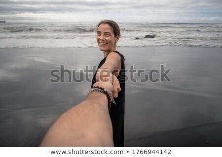 hand grabbing sand stock photo © simply