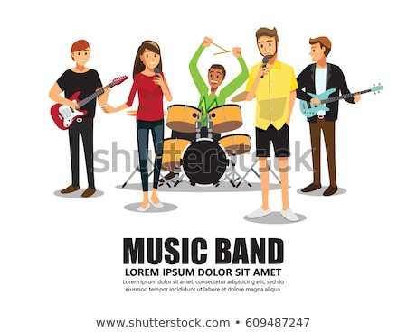 music band singers and musicians with instruments stock photo © robuart