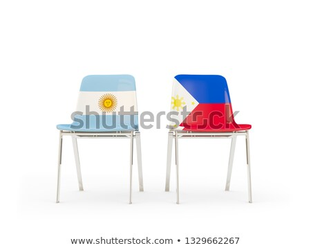 Two chairs with flags of Argentina and philippines Stock photo © MikhailMishchenko