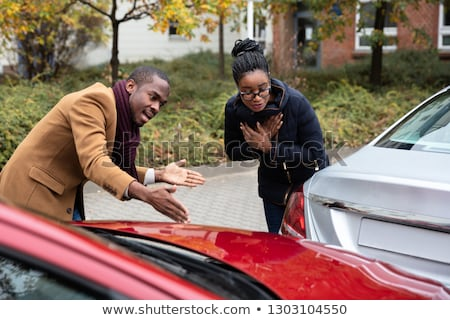 Man And Woman Arguing With Each Other After Car Accident Stock photo © AndreyPopov