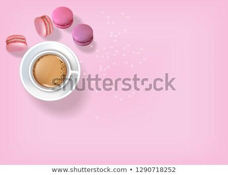 Stockfoto: Ontbijt · koffie · vector · realistisch · 3D · gedetailleerd