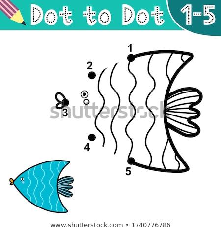 Vis aantal onderwater illustratie zee achtergrond Stockfoto © colematt