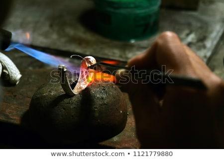 çalışmak · kuyumcu · takı · atölye · araçları · çalışma - stok fotoğraf © blanaru