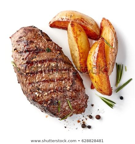 Grilled beef steak: top view Stock photo © Alex9500