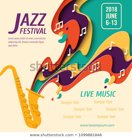 Stock photo: International Jazz day poster of live music band