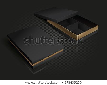 Siyah deri kapalı kutuları 3D 3d render Stok fotoğraf © djmilic