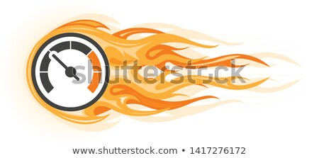Speed - flaming speedometer in motion, quick movement Stock photo © Winner