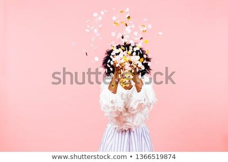 Ragazze confetti divertente tempo bambini Foto d'archivio © choreograph